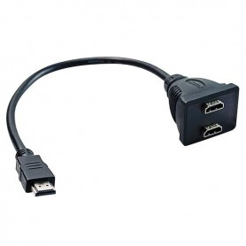 SWITCH 1 SPINA HDMI 2 PRESE HDMI CON CAVO 0.2 MT