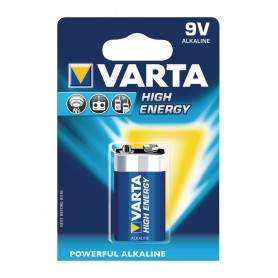 9V ALKALINA HIGH ENERGY BL 1PZ  VARTA