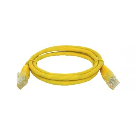 CAVO PATCH FTP CAT. 5 CON 2 SPINE RJ45 1mt GIALLO