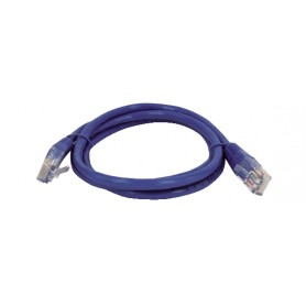 CAVO PATCH FTP CAT. 5 CON 2 SPINE RJ45 1mt BLU