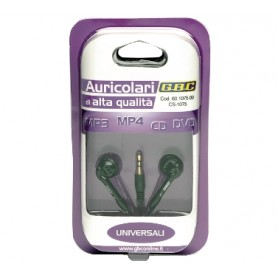 AURICOLARE STEREO C/ SPINA JACK 3,5mm SUPER BASS