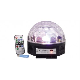EFFETTO LUCE SPECIALE LED MAGIC BALL CON USB/SD