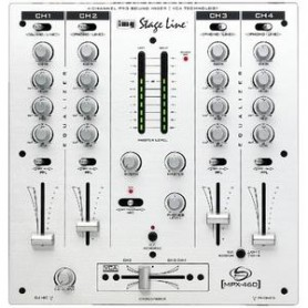 MIXER AUDIO STEREO 4 CH 7 ING. LINE + 1 ING. MIC.