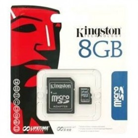 MICRO SD CARD 8 GB C4 V 2.0 CON ADATTAT. KINGSTON