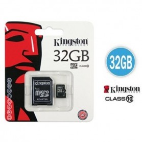 MICRO SD CARD 32 GB C10 CON ADATTATORE KINGSTON