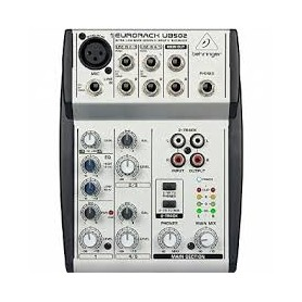MIXER AUDIO STEREO 2 CH 1 ING. MIC. + 4 ING. LINE