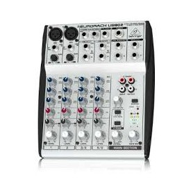 MIXER AUDIO STEREO 4 CH 2 ING. MIC.+4 ING. LINE M/