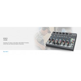 MIXER AUDIO STEREO 10 CH 6ING. MIC.+4 ING. LINE