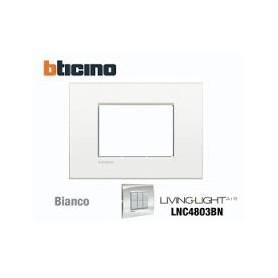 PLACCA LIVING LIGHT 3 MODULI BIANCO PURO