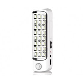 LAMPADA RICARICABILE A LED ANTI BLACK-OUT C/DIMMER