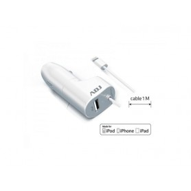 CARICA BATTERIA X AUTO 12-24V X IPHONE-IPAD + USB