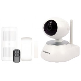 KIT ALLARME WIRELESS CON TELECAMERA IP WIFI MOTOR.