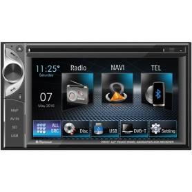 AUTORADIO CON DVD 2 DIN TOUCHSCREEN 6,2 GPS E BT