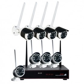 KIT WIRELESS NVR 8 CANALI +8 TELECAMERE 2 MPX IP65