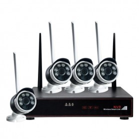 KIT WIRELESS NVR 4 CANALI +4 TELECAMERE 2 MPX IP65