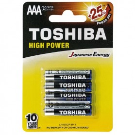 MINISTILO ALKALINE HIGH POWER BL 4 PZ TOSHIBA LR03